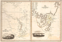Map of Van Diemans Land; Map of part of New South Wales